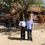 Shri and Kumar outside Sunlarge Homestay