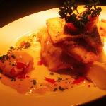 Trio of lemon sole, seabream and tiger prawns