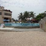 Reception block & Swimming pool