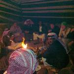 Authentic bedouin camping