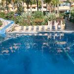 One of the hotel pools