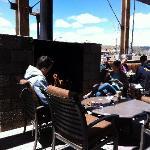 the patio w/fireplace