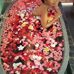 Relaxing Flower Bath