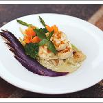 Green Curry Scallop With Roasted Eggplant