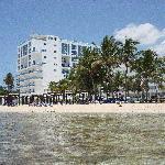 View of Hotel, beachside