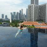 rooftop pool overlooking Raffles