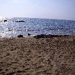 Part of the private beach