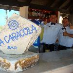 La Caracola Bar with Orestes & Norge at your service!