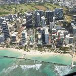 View of the Hotel location from our Helicopter Flight