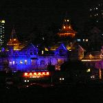 nighttime exterior of Moller Villa