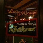 Front door of Lou and Mickey's