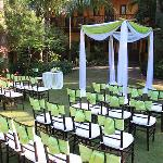 Wedding ceremony at the Marley's garden