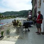 Terrace overlooking River