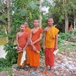 Monks living next to Bakong