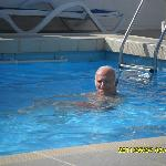 In swimming pool