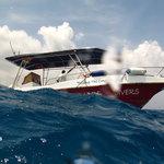 Barca con la que se realizan las inmersiones