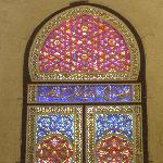 Stained Glass windowns inside the Masjid-ul-Aqsa