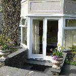 Door to the back garden -- Elleray suite.