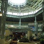 The hotel is shaped like a rotunda.