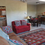 Living room/front entry area of casita