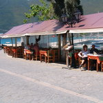 The eating at the Vagelaras Taverna in Vasiliki