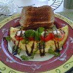 My last morning's breakfast omelet!