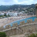 Tossa de Mar beach from the castle