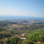 Vue du haut de la colline