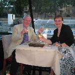 Dinner on a Seine riverboar cruise