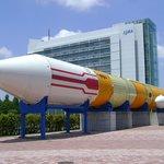 入り口に展示されている本物のロケット