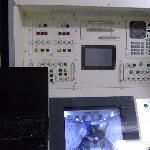 「きぼう」日本実験棟の実物大模型の中