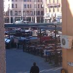 Utsikt från hotellrummet, lördag morgon
