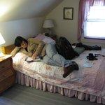 Relaxing in room