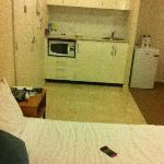 room- bed and kitchenette