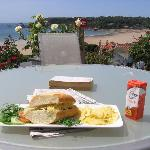 Light lunch on the terrace - great value
