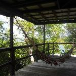 Veranda with hammocks.. overlooking ocean