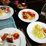 The Tapas's- scallops, Oysters and King Praws