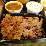 Pulled Pork and Angus Brisket