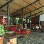 The bar facing the restaurant