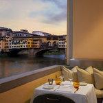 Arno view from Terrace Borgo San Jacopo Ristorante