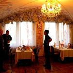 Cosy dining room for the traditional Russian meal