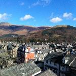 view from twin room looking over keswick
