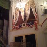 The theater box in which President Lincoln was sitting at Ford's Theater.