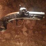 The pistol which Booth used to murder President Lincoln. This piece is the highlight of the outs