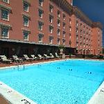 Pool and pool deck, one of the few in Charleston hotels