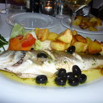 My Sea bass and roast potatoes