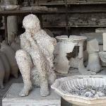plaster cast from Pompeii