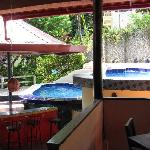 Pool Area from Open Air Restaurant