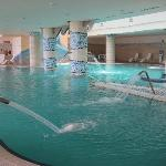 At the hotel's spa