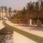 walkways leading to the Beach villas